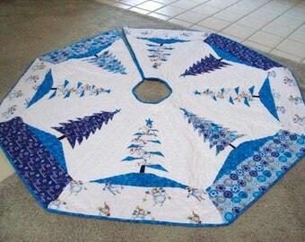 "64"" Hanukkah and Christmas Tree Skirt #19L"