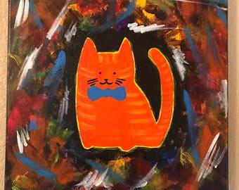 Orange tabby in a tie