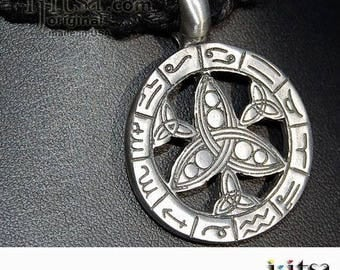 Soft Black Hemp Chain Choker/Necklace and pewter pendant Zodiac