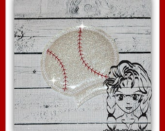 BaSEBALL  SoFTBALL Sports Ear (Add On ~ 1 Pc) Mr Miss Mouse Ears Headband ~ In the Hoop ~ Downloadable DiGiTaL Machine Emb Design by Carrie