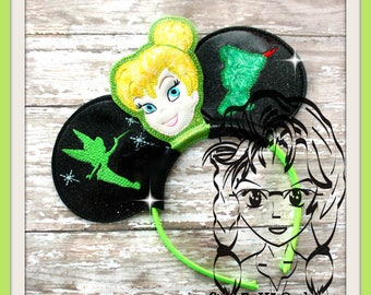 FAiRY TiNY Inspired Character (4 Piece) Mr Miss Mouse Ears Headband ~ In the Hoop ~ Downloadable DiGiTaL Machine Emb Design by Carrie