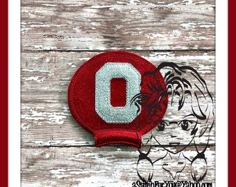 "OHiO State ""O"" Sports Ear (Add On ~ 1 Pc) Mr Ms Mouse Ears Headband ~ In the Hoop ~ Downloadable DiGiTaL Machine Embroidery Design by Carrie"