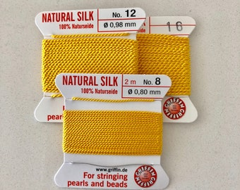 Yellow Griffin Natural Silk Cord sz 8 12 16