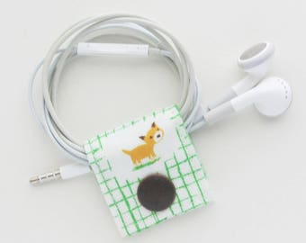 Kitty Cord Keeper   Cord organizer holder for small cords like USB cables for charging phones and or cameras, keyboard and mouse cords, etc.