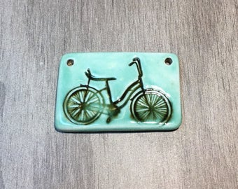 Ceramic Bicycle Pendant