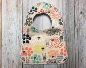 Baby Girl Bib in Flower Shop Fabric - Baby Shower Gift-...