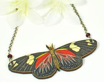 Bufferfly Jewelry - Doris Longwing Butterfly Pendant - Butterfly Necklace - Nature Jewelry - Woodland Creature - Nature Lover Gift