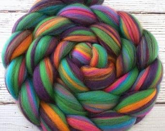 Custom Blended 100% Merino Parfait Wool Roving Top - 4 oz. ARCADE - Spinning Felting Fiber