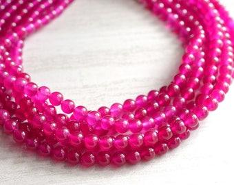 Michelle - Hot Pink Jade Bridesmaid Statement Necklace