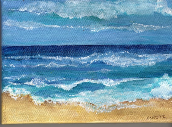 How To Paint Ocean With Acrylics
