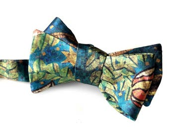 Fisher Building Mosaic Printed Bow Tie, Detroit Architectural Detail Tie.Architect gift, gift for Detroiter.