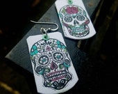 Sugar Skulls - hand-painted Day of the Dead charm earrings