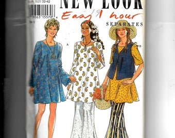 New Look Misses' Dress, Tunic,  Top and Pants Pattern