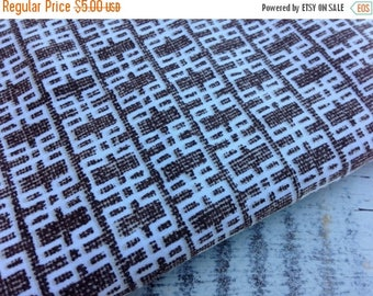 SALE- Modern Brown Fabric-Reclaimed Bed Linens-Mod Retro