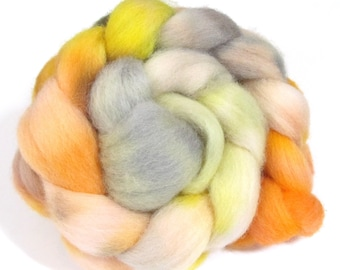 Hand Dyed Roving Combed Wool Top Whitefaced Woodland 100g WW33