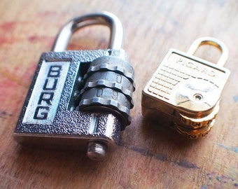 Vintage Combination Padlocks // Summer SALE - Save 15% - Coupon Code SUMMER15