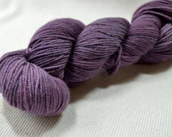 New Yarn New Color Freewheel Organic Merino Worsted Weight by Yarn Hollow in Purple Twilight Hand Dyed Semi Solid 4 ounces 250 yards