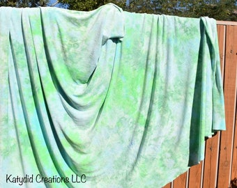 Hand Dyed Organic Bamboo Velour Blanket - Stadium Blanket - Throw - Baby