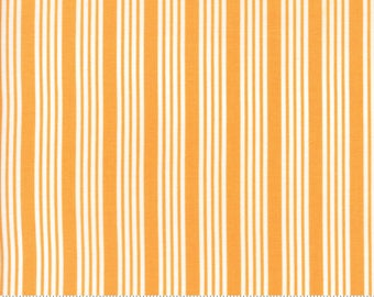 The Good Life - Stripe in Marmalade Orange: sku 55157-18 cotton quilting fabric by Bonnie and Camille for Moda Fabrics