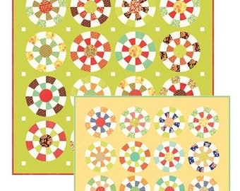 Bottlecaps quilt pattern from Fig Tree and Co. - acrylic template included,  cut 2 quilts at once