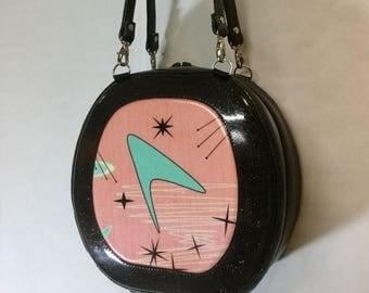 20% off Atomic Boomerang and Glitter Vinyl Handbag - Shoulder Bag - Headset Case