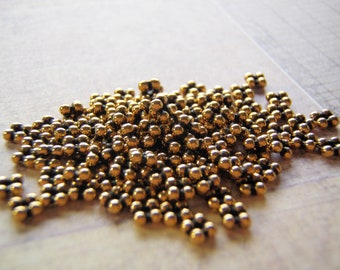 Tierracast Quad Heishi Spacer Bead Antique Gold 3mm 10 Beads