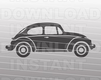 Antique Car svg file,VW Beetle SVG File,VW Bug svg File -Vector Clip Art for Personal Use- Cricut,Silhouette Cameo,Vinyl Template,htv
