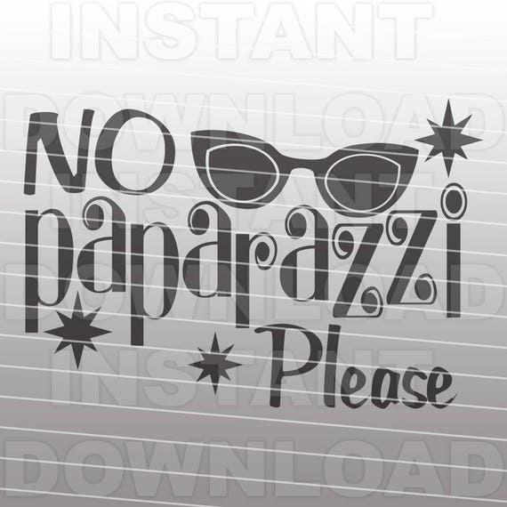 no paparazzi please funny girly onesie toddler svg commercial personal use vector art for cricutsilhouette cameoiron on vinyl decal from sammo on etsy