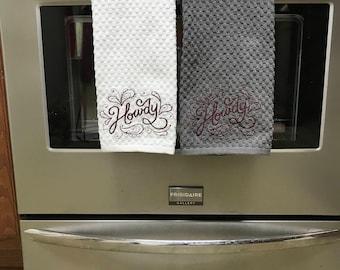 Howdy Tea Towel, Aggie, Texas A&M