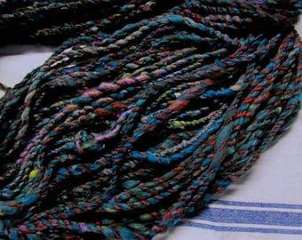 home raised hand worked farm blend handspun art yarns