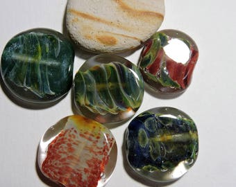 Lampwork Glass Borosilicate Beads TABLETS Two Sisters Designs 072617I