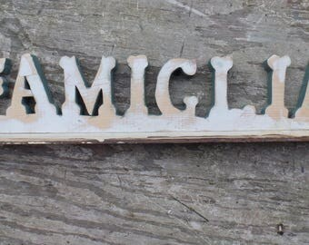 Recycled Wood Sign, Famiglia Sign, Italian Decor, Custom Sign, Italian Sign, Family Sign,, Reclaimed Wood Sign, Italian home decor