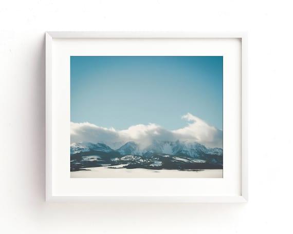 """""""Bridger Mountain Cloud Cover"""" - landscape photography"""