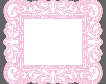Fancy Lace Frame SVG Commercial Use Digital Cut File for fabric. paper, wood signs, htv, Cricut Silhouette Photos Picture Frame Art FIligree