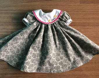 18 inch doll clothes- Gray Elegance Party Dress LOVE