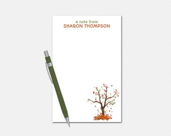 Personalized Fall Notepad - Fallen Leaves Notepad - Autumn Notepad - Personalized Notepad - Fall Notepad for Teachers
