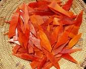 Red with Orange Wispy Glass Shards for Mosaic Art Designing