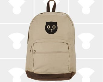 Classic Canvas Backpack - Variety of Watson the Cat Graphics