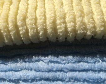 Crayon Chenille fabric  - by Robert Kaufman Fabrics  -  one yard