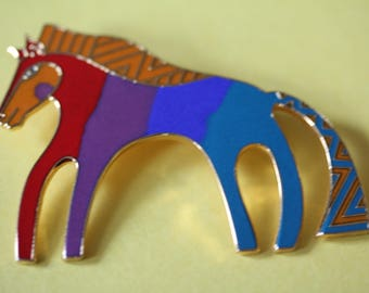 VINTAGE Laurel Burch CABALLO pin / brooch