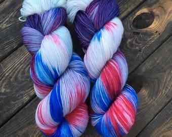 Hand Dyed Sock Yarn - Classic Sock - 75/25 Superwash Merino Wool/Nylon - 100g skein - Churchill