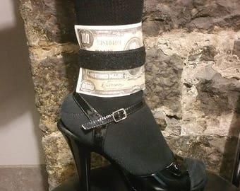 bride's/dancer's wrist or ankle wallet