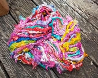 Handspun Art Yarn-  Spinning in the Snow- Iceland Collection-Signature Jazztutle TextureSpun Artisan Yarn