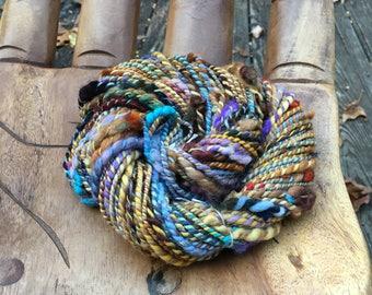 Handspun Art Yarn-Phoenix Sunrise- Signature WildPlied Artisan Yarn