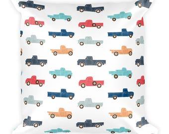 Vintage Trucks Square Pillow