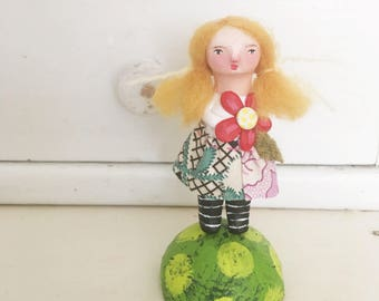 little cynthia handmade art doll