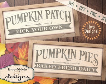 Pumpkin svg - Pumpkin Patch Sign svg - Pumpkin Pie Sign svg - autumn svg bundle  -  fall svg bundle - Commercial use svg, dfx, png and jpg