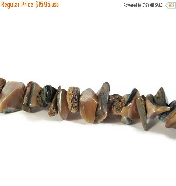 Summer SALEabration - Abalone Beads, Natural Gemstones, One Strand of Gemstone Chips for Making Jewelry, 120 Beads (S-Ab1)