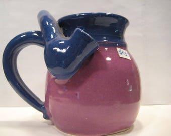 Bright Pinkie Lilac and Blue  * Smaller Version * Wake and Bake  Mug....  MUG and a PIPE.... AWESOME !!!  ..   A107