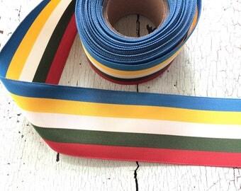 Pristine Vintage Striped Grosgrain Ribbon